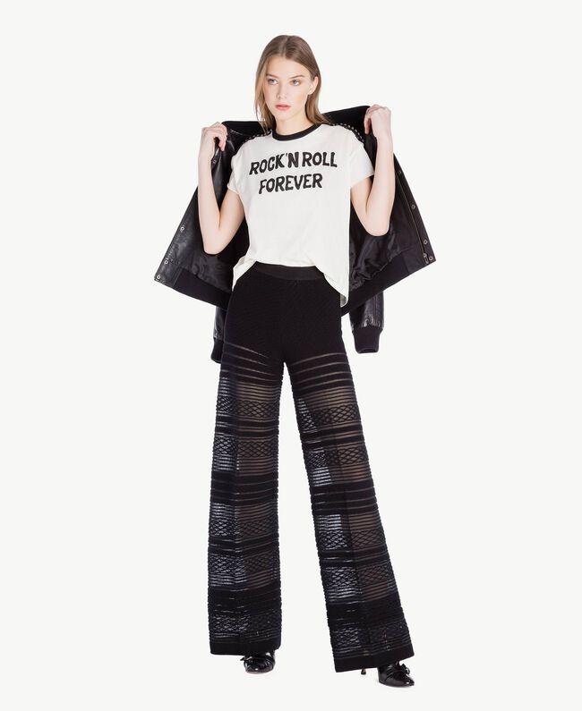 Pantalon viscose Noir Femme PS8363-05