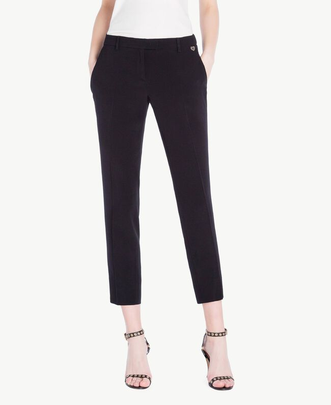 Cady drainpipe trousers Black Woman PS829B-01