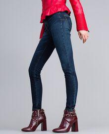 Jeans skinny in denim stretch Denim Blue Donna JA82Q9-02