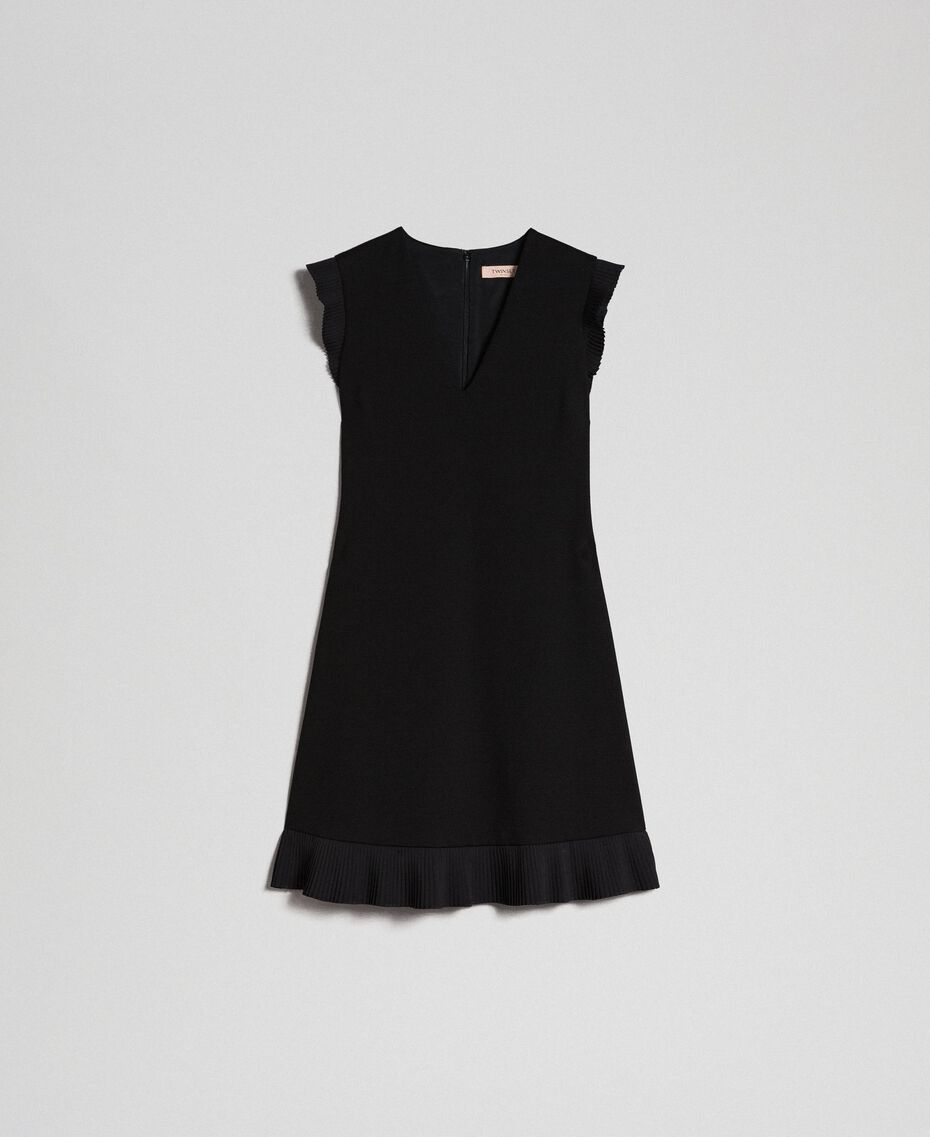 Pleated detail dress Black Woman 192TT2061-0S