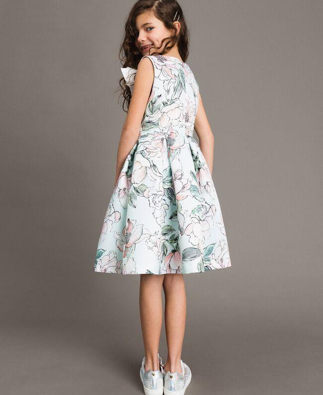 """Robe duchesse à fleurs Imprimé Floral Bleu Clair """"Eau"""" Enfant 191GJ2QN0-03"""