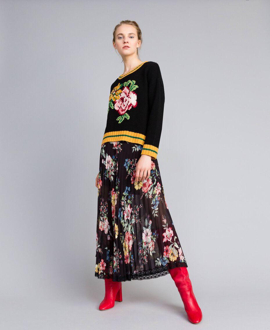 Wool blend jumper Black Woman PA83HR-0T