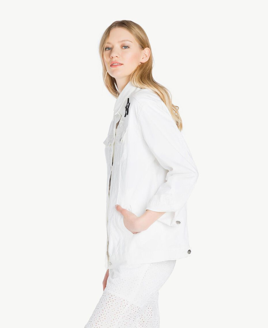 Stars jacket White Woman JS82Z7-02
