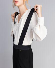 Drainpipe trousers with braces Black Woman SA82DE-01