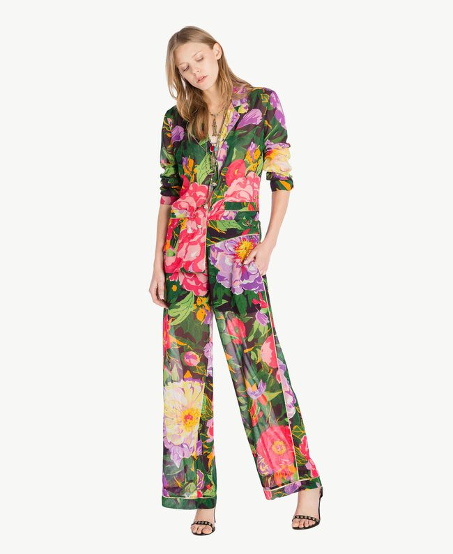 "Hose mit Print ""Summer Garden""-Print Frau TS8244-05"