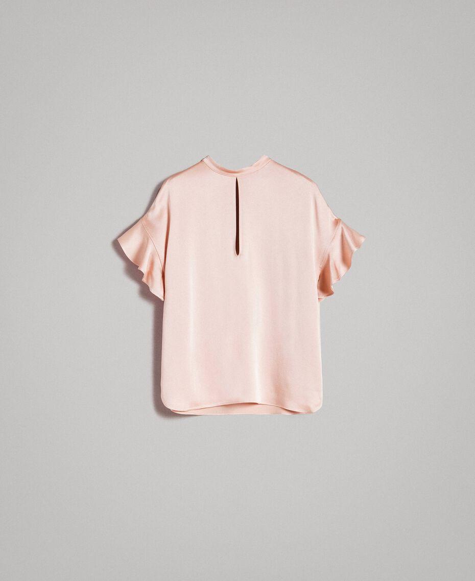"""Teardrop opening blouse """"Nude"""" Beige Woman 191TP2694-0S"""