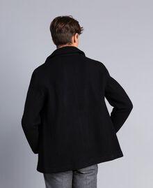 Boiled wool peacoat Black Man UA83CA-03