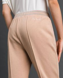 Cigarette trousers with lurex stripes Beige Nude Woman 192LI2GCC-04