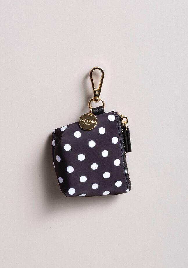 Polka dot coin purse keychain