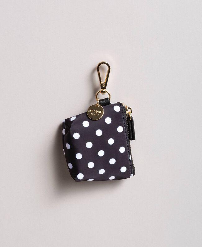Polka dot coin purse keychain White / Black Polka Dot Print Woman 191MA7124-01