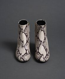 Leather ankle boots with animal print Rock Python Print Woman 192TCT012-04