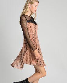 Платье из жоржета с животным принтом Принт Питон Верблюжий женщина 192TT2273-01