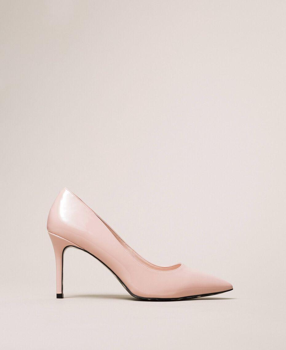 Patent leather court shoes Quartz Pink Woman 201MCP01L-01
