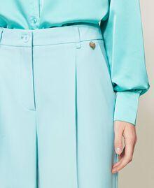 Pantalon en laine froide Vert «Nymphe Foncé» Femme 211TQ2057-04