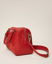 Bauletto-Tasche aus Lederimitat Kirsch Rot Frau 202MA7022-03