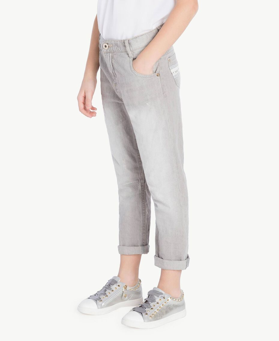 Slouchy jeans Light Grey Denim Child GS82FP-03