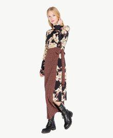 Kleid mit Print Mehrfarbiger Kirschblütenprint TA7251-02