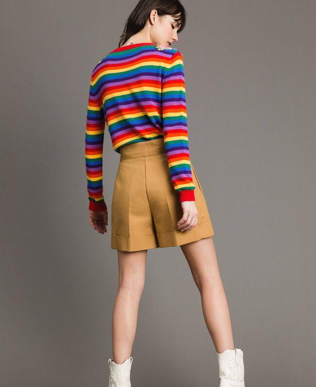 """Shorts aus technischer Baumwolle """"Mid Tan"""" Braun Frau 191TP2182-03"""