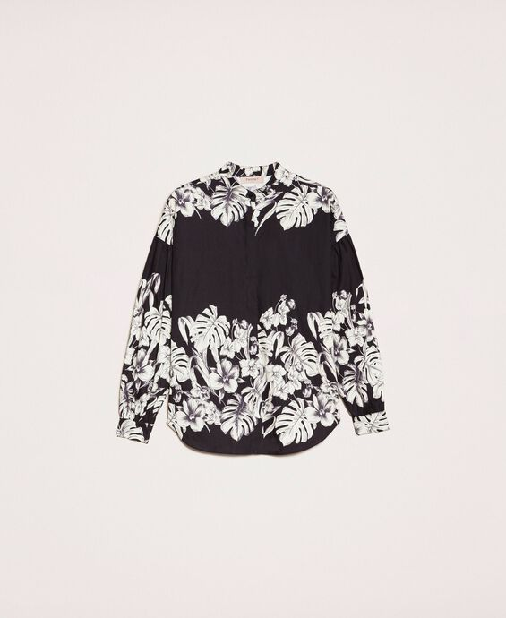 Poplin floral shirt