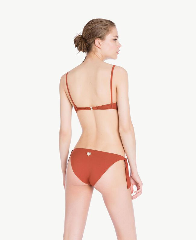 Bandeau-Bikinitop mit Stickerei Arizona Chocolate Frau MS8AXX-04