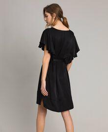 Robe en satin avec ceinture Noir Femme 191TT2450-03