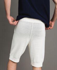 Bermuda en coton mélangé Blanc Opaque Homme 191UT3084-03