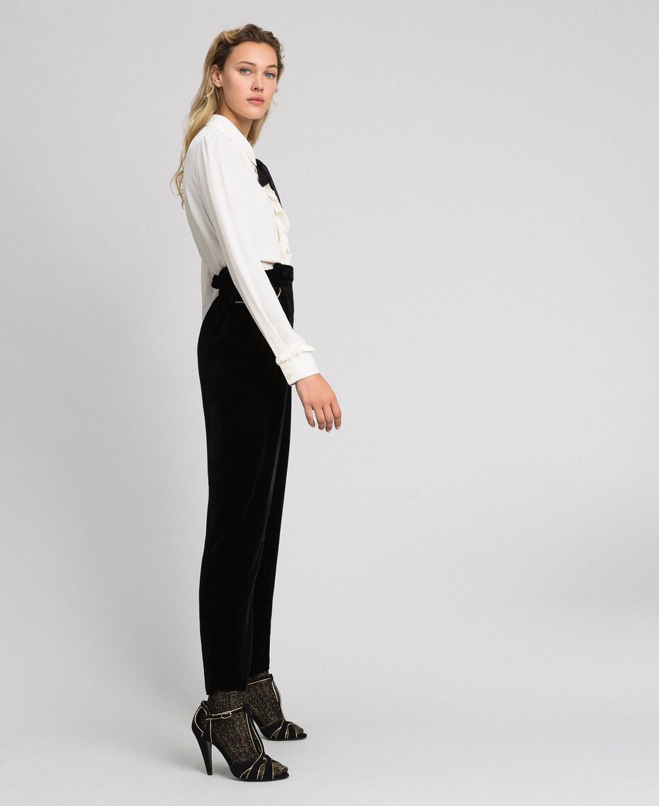 Velvet trousers Black Woman 192TT2420-02
