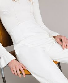 Pantalon en similicuir Blanc Femme 191TP2550-04