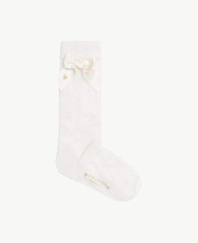 Bow socks Pale Cream Child GS8ACA-01