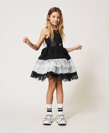 Robe en dentelle et tulle bicolore Bicolore Noir / Blanc Cassé Enfant 211GJ2Q8D-01