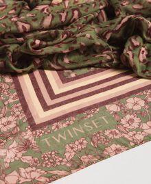 Double pattern sarong Amazon Green Animal Print Woman 191LM4UBB-02