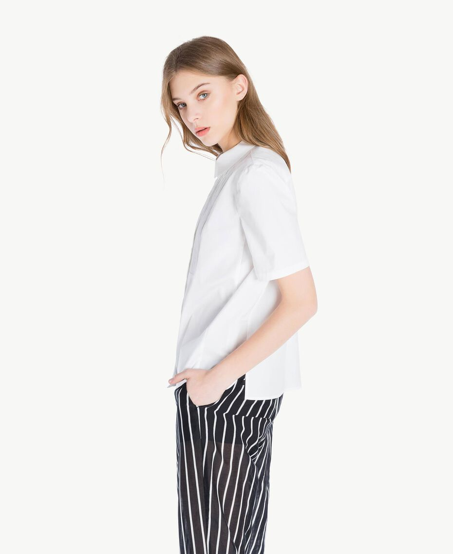 Cotton shirt White Woman TS8211-02
