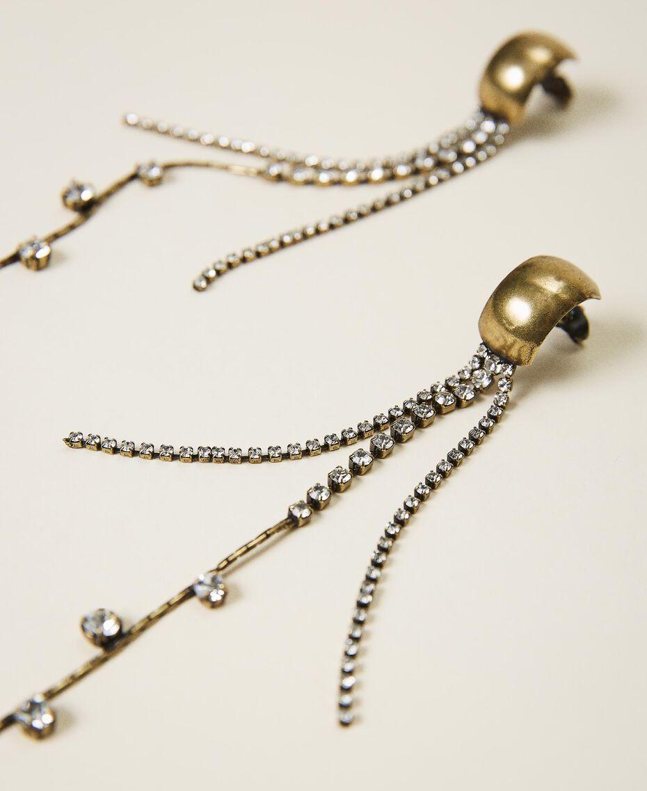 Boucles d'oreilles avec strass et chatons Cristal Femme 202TA4300-01