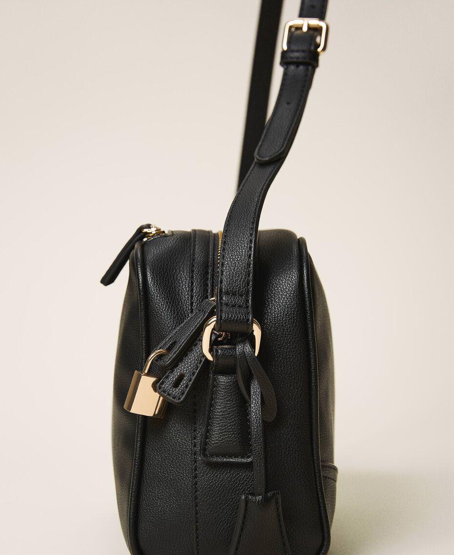 Shoulder bag with dual compartment Black Woman 202TB7032-02