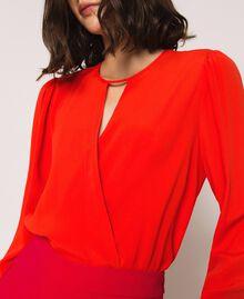 Silk blend blouse bodysuit White Snow Woman 201TP2504-04