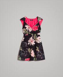 """Robe en crêpe de Chine à imprimé floral Imprimé Fleur Beige """"Coquillage"""" Total Femme 191MT2211-0S"""
