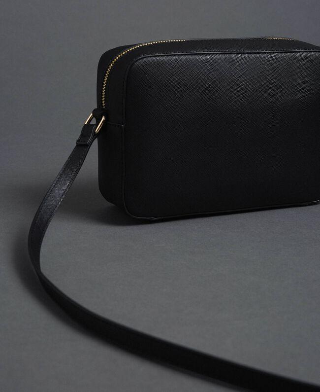 Kleine Umhängetasche aus Lederimitat mit Nieten Schwarz Frau 192TA7212-04