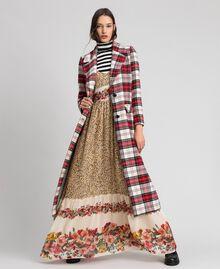 Robe longue avec imprimé animalier et floral Imprimé Léopard Femme 192TP2743-0T