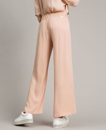 Crêpe palazzo trousers Delicate Pink Woman 191LL23EE-03