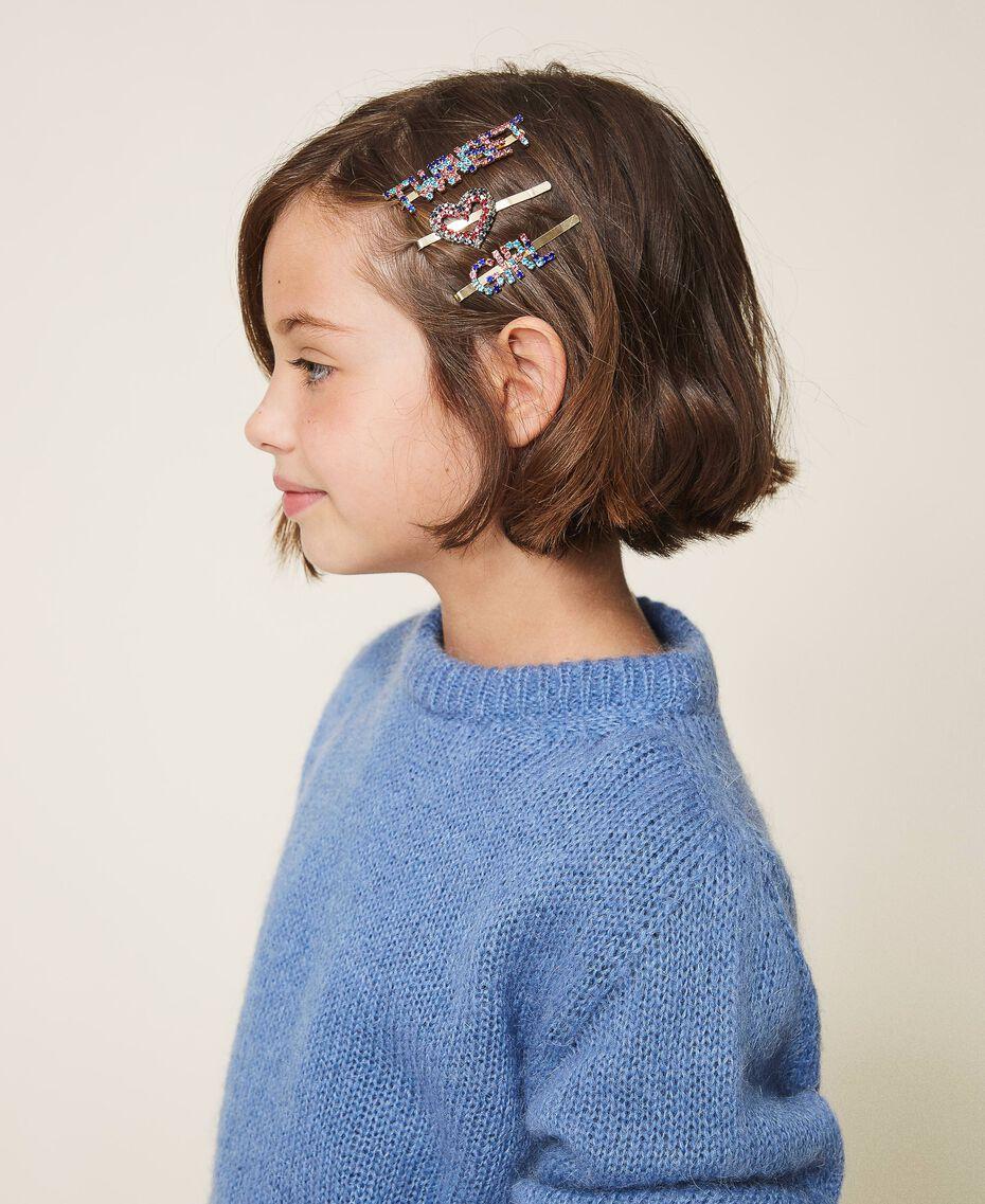 Parure d'épingles à cheveux avec logo Jaune Or Enfant 202GJ491A-0S