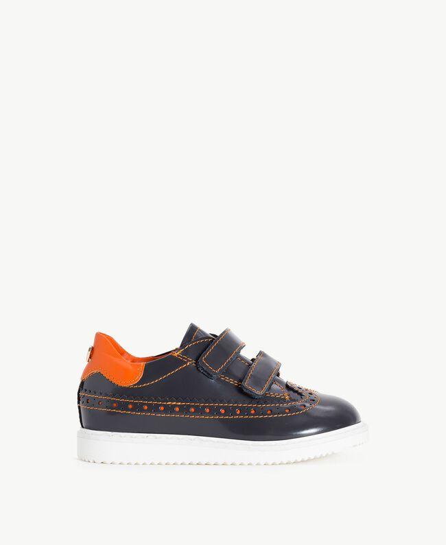 Leather lace-up shoes Lava Grey / Orange Female HA76A3-01