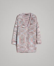 "Mehrfarbiger Lurex-Cardigan Multicolour ""Pastel Colour"" Lurex Frau 191MP3181-0S"