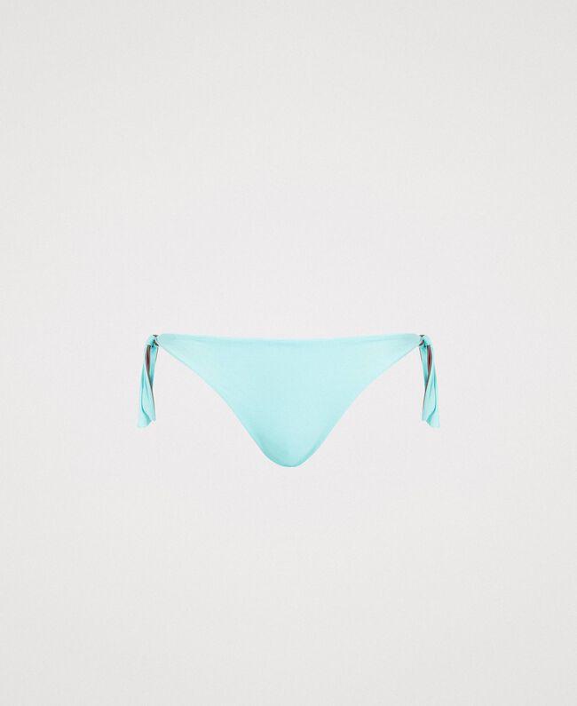 Doubleface-Bikinitanga Hell Mousse Blau Frau 191LBM1ZZ-01