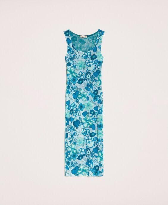Floral tulle sheath dress