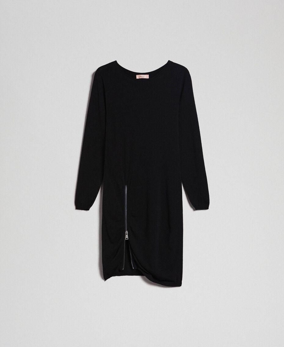 Robe avec fermeture éclair asymétrique Noir Femme 192TP3260-0S