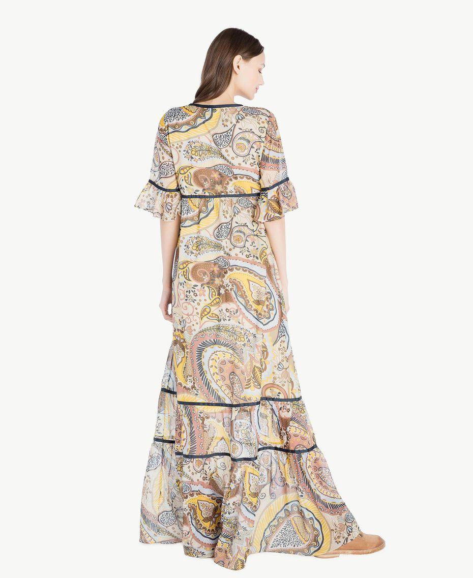Langes Kleid mit Print Paisleyprint Frau SS82ME-03