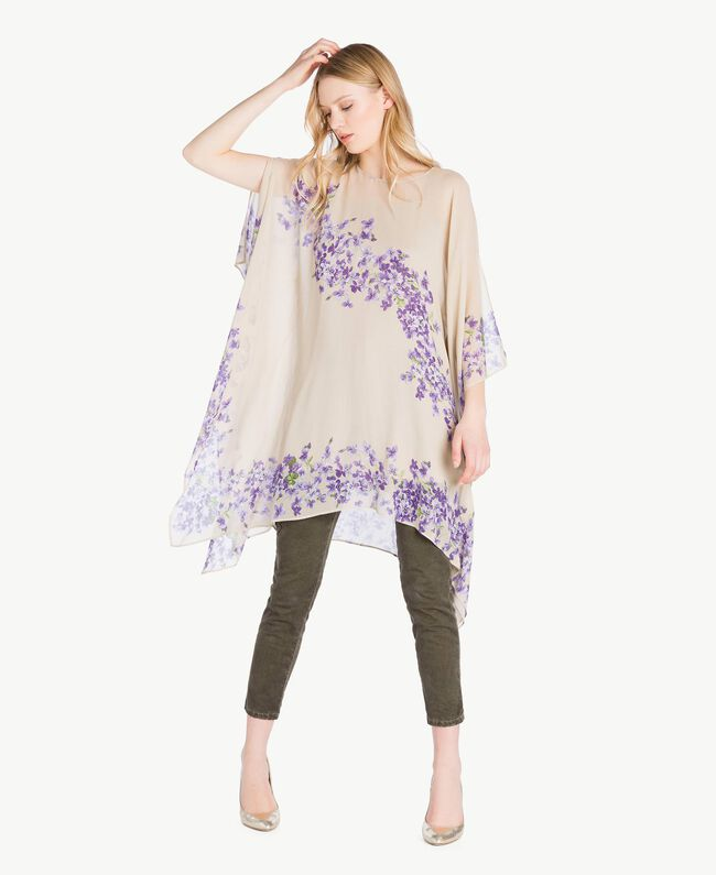 Printed kaftan Violet Edge Print Woman PS82XN-01