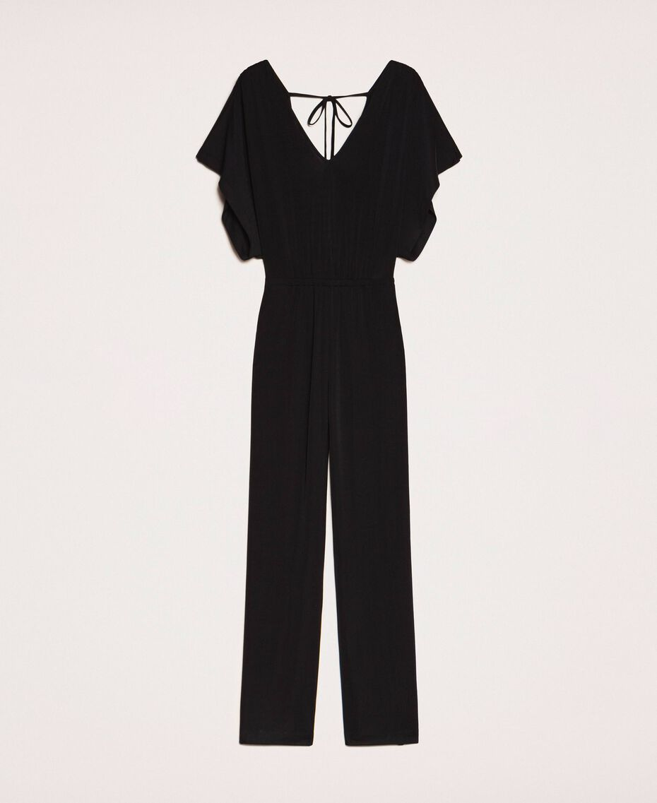 Jumpsuit with side slits Black Woman 201LM2EDD-0S