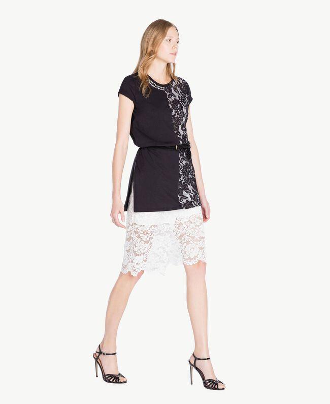 Shorts aus Spitze Weiß Frau TS828T-05