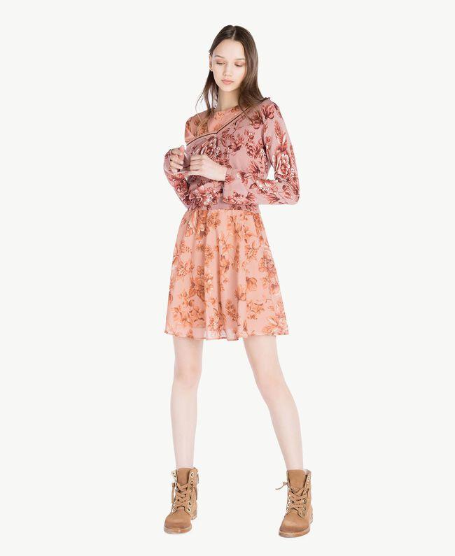 Robe imprimée Imprimé Porcelaines Rose Antique Femme SS82MQ-05